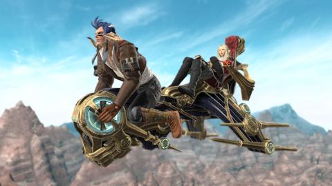 【FF14】2人乗りエアバイクに乗るララフェル可愛すぎワロタ(えふまと!)